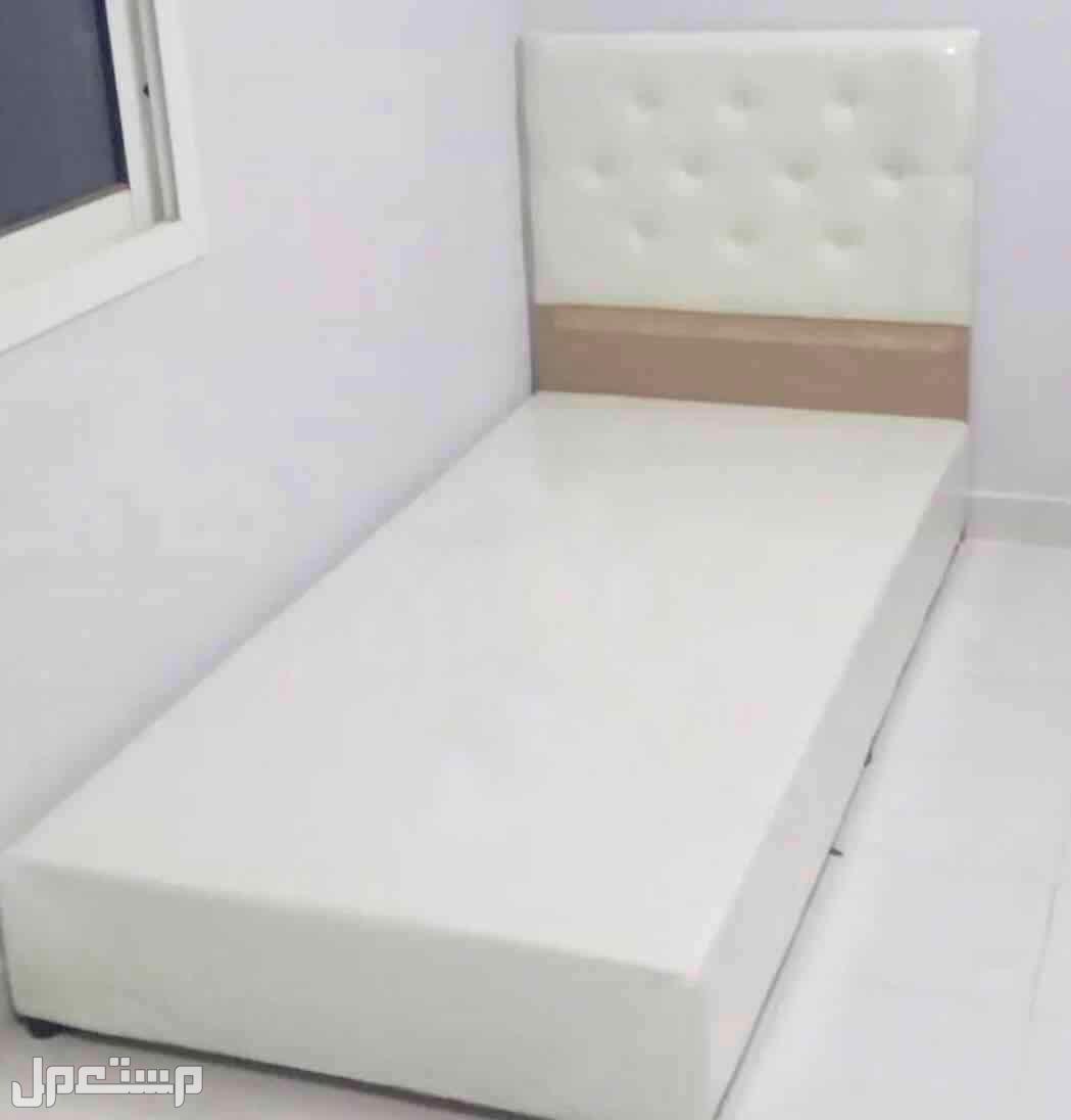 سرير نفر واحد جلد