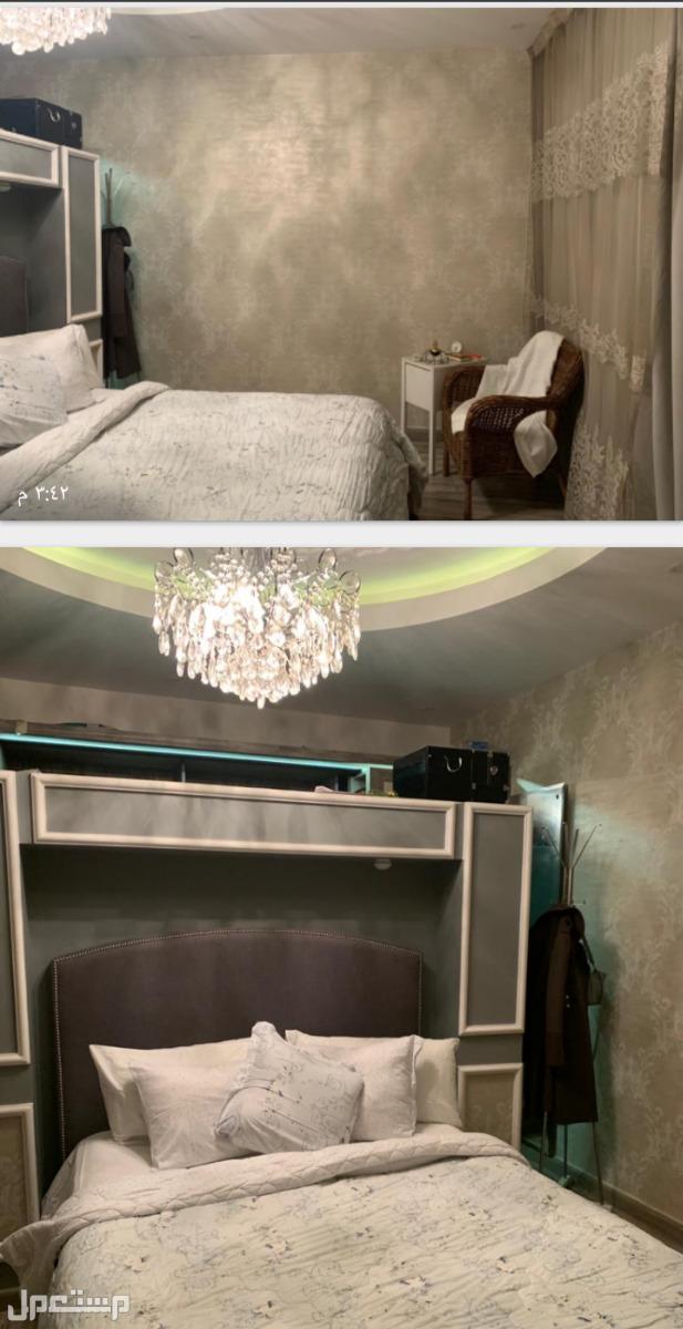 شقة دبلوكس مطلة على ممشى التلال غرفة النوم ماستر بها خزائن جدارية الخزائن المبتكرة