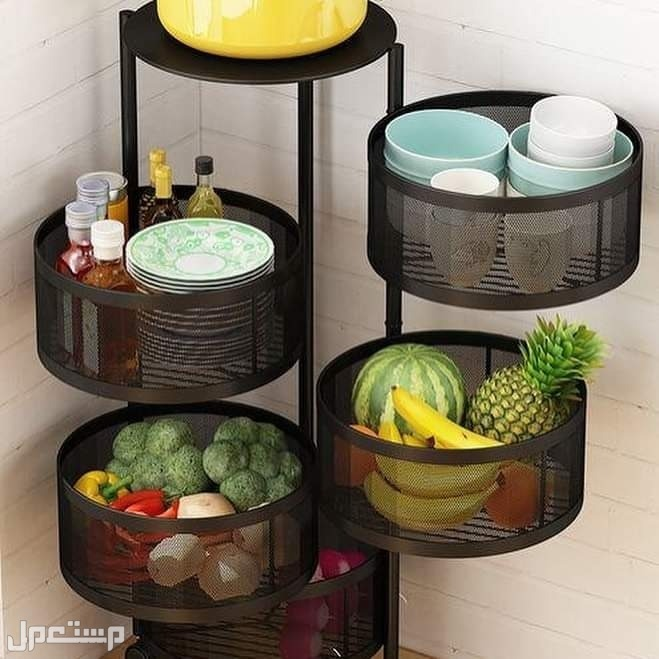 سلات دائرية عصرية وعملية للمطبخ وحفظ الخضروات