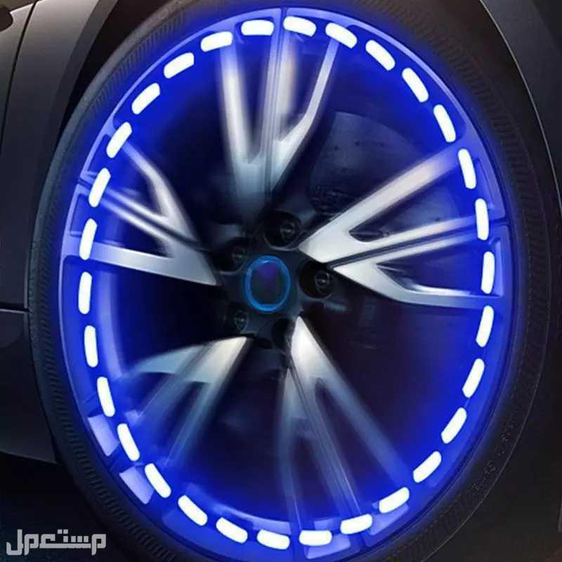 مصباح LED لكفرات السيارات و دراجات بالطاقه الشمسيه