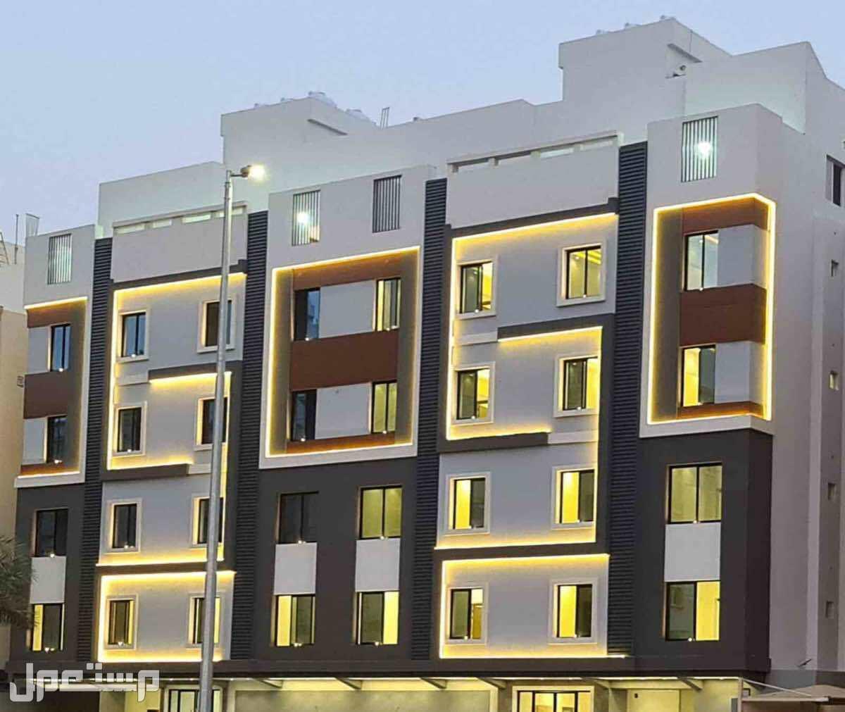شقق للبيع بحي المروه بتصميم وديكور عصري 5 غرف بمنافعها