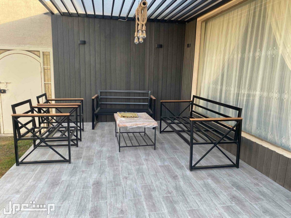 مجالس خارجية خشب سويدي